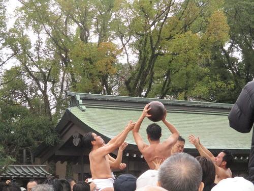 筥崎宮の「玉せせり」と福岡市美術館のモネ展を見てきました!2015.1.3(日)