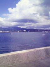 長崎空港近くの海