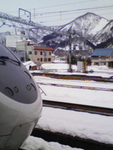 越後湯沢の雪