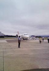 南紀白浜空港のジェット機