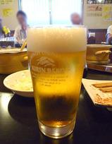 グラスビール@若松屋