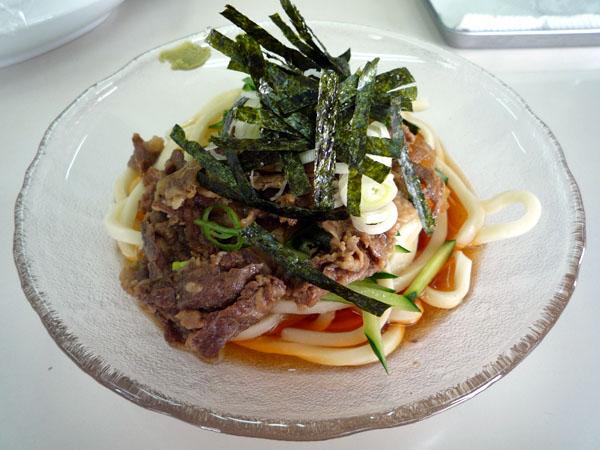Pふじ心店うどん牛汁心麺