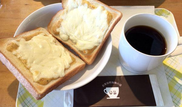 珈琲+チーズトースト