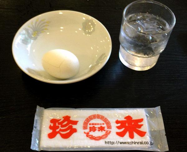 ゆで卵サービス