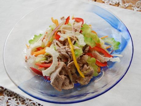 ゴーヤーと豚肉のサラダ
