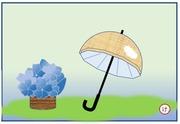 お絵かき日傘