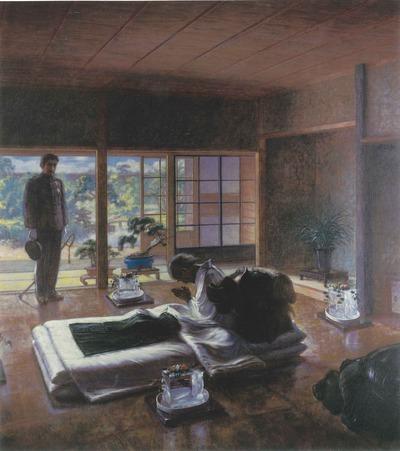 Emperor Meiji visits Iwakura