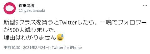 2021.02.28 百田新型Sクラスを買うとTwitterしたら、一晩