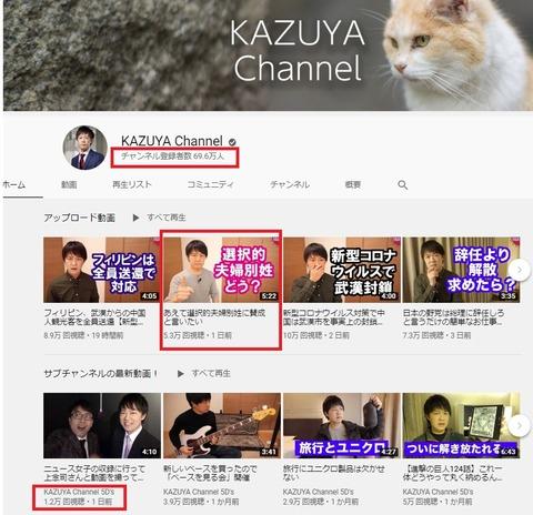 2020.01.26 KAZUYAチャンネルの再生数