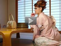 パコパコママ 無料サンプル動画 うなじの綺麗な和服妻 御子柴悦子