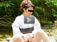 パコパコママ 無料サンプル動画 着物美人の五十路美人妻と初の露出 森田加代