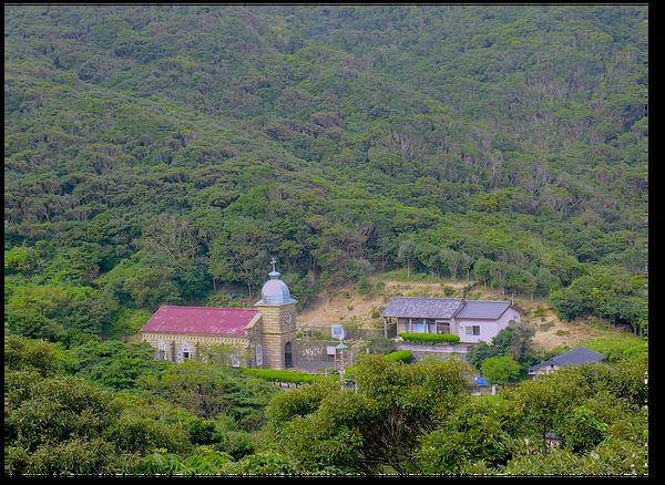 頭ケ島教会遠景