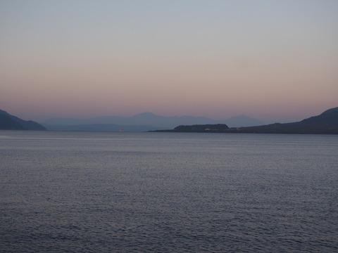 夕焼けの霧島連山
