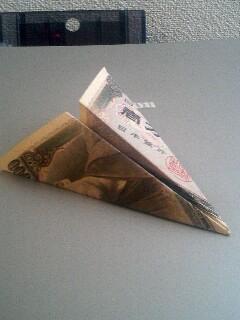 一機一万円の紙飛行機!