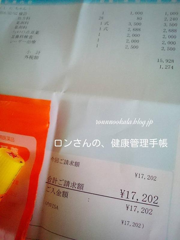 20160202 再診 お会計 1
