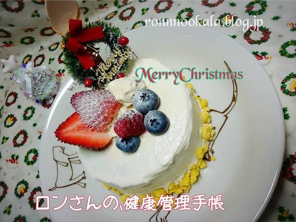 20161224 わんこだって、クリスマスケーキ2016 5