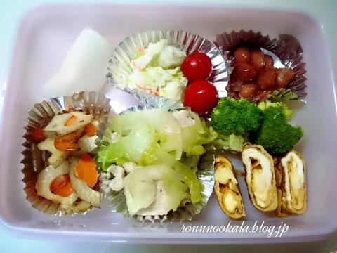 20150902 9月の ロンご飯 姉ちゃん 夏休み  お弁当 2