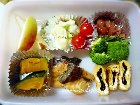 20150902 9月の ロンご飯 姉ちゃん 夏休み お弁当 4