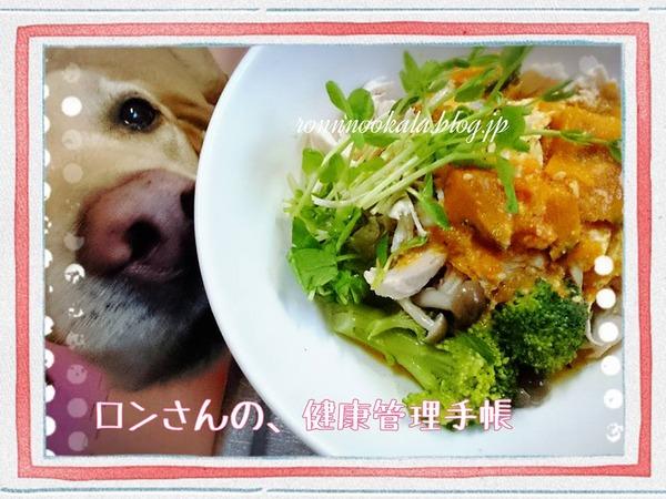 20151113 ロンご飯 留守番 かぼちゃのスープ 1