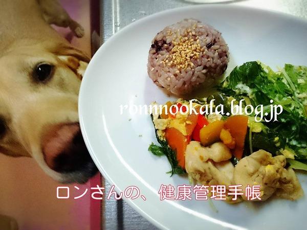 20160601 カラフル親子煮 雑穀おにぎり 2