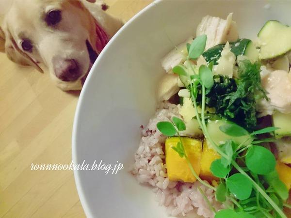 20160803 鶏肉味噌漬け 雑穀ごはん 4