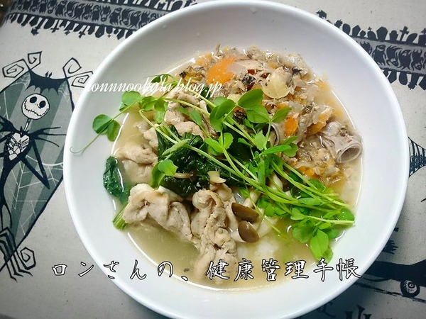 20151019 ロンご飯 鰤アラ犬ごはん 1