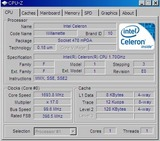 CPUはWillametteコアのセレロン