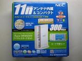 NECの11n対応親機とカード型子機のセット