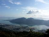 経小屋山から宮島を望む