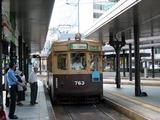 大阪から広島電鉄に移籍した路面電車