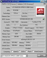 GPU-Zで表示されたグラフィックスの仕様