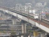 東広島バイパス一般開放・0系新幹線?