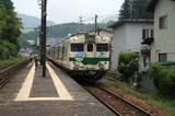 志和口駅から三次へ向かう急行みよし4号