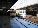 雪が積もった広島駅
