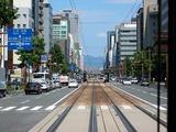 広島の道路の真ん中