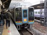 岡山駅で2000系特急南風