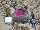 測定はUSB扇風機を使う