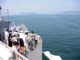 広島湾を21ノットで航行中-050729