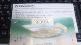 20101030 gooリサーチ 入金確認