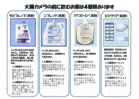 2013089 大腸内視鏡下剤4種類