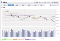 日経平均1,010円下落 リスク増す相場
