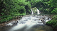 新庄村の不動滝男滝女滝
