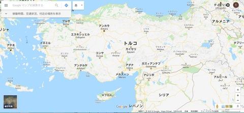ユダイクス・アクベシアヌス生息域 拡大図