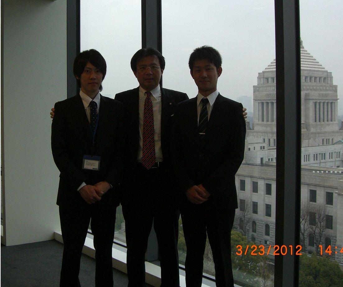 2012-03-25 】仙台事務所でインターンをしている男子大学生の皆さんが ...