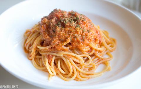 カニのトマトクリームソーススパゲティ_2