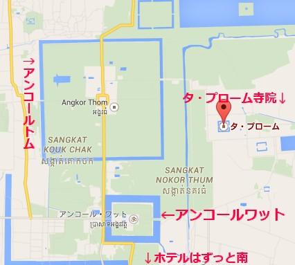 タ・プローム寺院地図