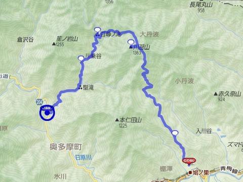 川苔山コース