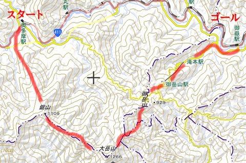 大岳山コース
