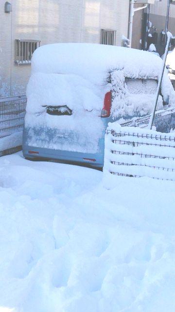 雪に埋もれたスペーシア君