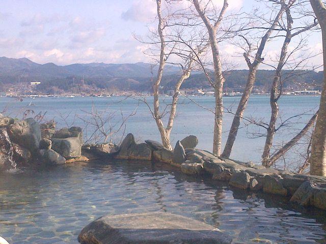 南三陸ホテル観洋の露天風呂